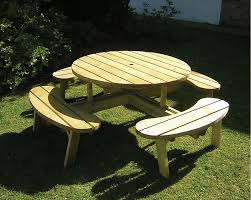 kid s curved picnic bench