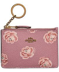 COACH Rose-Print Mini ID Skinny Wallet