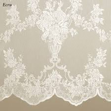 Lace Sheers Easy Style Carly Lace Curtain Panel With Attached Valance