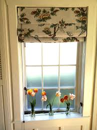 Decorative Bathroom Windows Short Curtain Rods Either Side Window