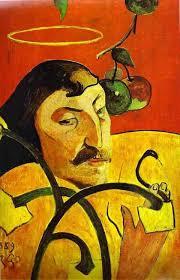gauguin caricature self portrait 1889