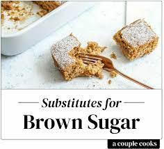 best brown sugar subsute a couple