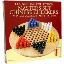 chinese checkers 15 wood w pegs