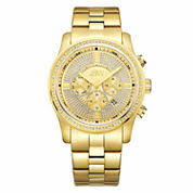 mens bracelet watches for shops jcpenney jbw men s vanquish 42 ctw diamond 18k gold plated stainless steel watch j6337b