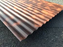 corrugated metal roof installation details rust effect painted outstanding roofing sheets