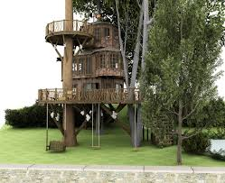 Architecture: Wonderful Tree House Desings With Sulpted 2 Trees .