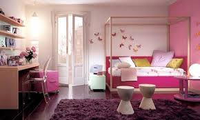 bedroom ideas for young women. Contemporary Ideas Cheerful Bedroom Ideas For Young Women White Pink Design With Learning Desk  Modern Canopy Bed Purple Intended For