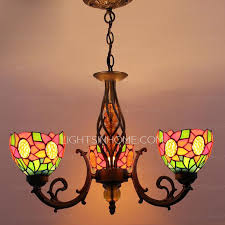 multi color glass shade 3 light antique chandeliers for