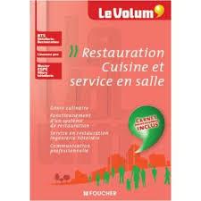 Restauration Cuisine Et Service En Salle Le Volum Bts Hôtellerie