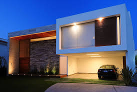 Small Picture contemporary houses Front View Modern House with Tiles Wall