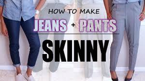 Make Pants How To Make Jeans Pants Skinny Diy Sewing Blueprintdiy