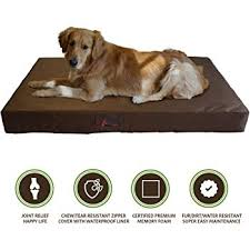 tear resistant dog bed. Contemporary Dog PetBed4Less Deluxe Orthopedic Memory Foam Dog Bed Pet Pad With Chew Resistant  Tear And Removable Intended E