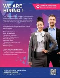 Recruitment Flyers Free Premium Templates Recruiting Company