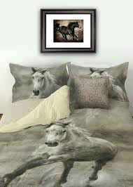 rustic galloping horse bedding set duvet cover print double