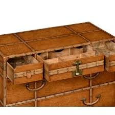 travel trunk leather chest of drawers