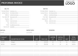 Proforma Invoice Excel Template