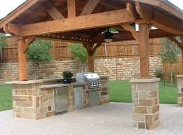 T Outdoor Rustic Kitchen Ideas With Solid Wood Patio Cover  Spectacular Product Associated Any House
