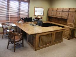 Beautiful custom office desk, made from rustic knotty alder, aged barn tin  inserts,