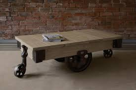 Mill Cart Coffee Table Oak Mill Cart Coffee Table By Indigo Furniture