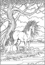 Unicorns Coloring Page Mythical Creatures Fantasy Animals Free