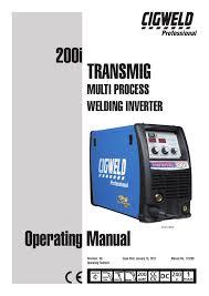 Cigweld 200i Specifications Manualzz Com