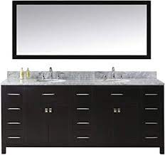 This model comes with a double layered italian white carrara marble countertop with beautiful. Virtu Usa Caroline Parkway 78 Inch Double Sink Bathroom Vanity Set In Espresso W Round Undermount Sink Italian Carrara White Marble Countertop No Faucet 1 Mirror Md 2178 Wmro Es Vanity Sinks Amazon Com