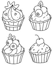 Delicious sugary frosting, my mouth is watering just thinking about them. Premium Vector Cute Cupcakes Coloring Page Cupcake Set Outline Doodle Vector Illustration A Set Of Muffins