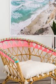 some color to ikea s rattan stockholm chair i love the vibrant colors used here this chair is ready for summer you can instructions on how to do this