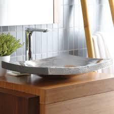 kohani 20 curved vessel copper bathroom sink kohani bathroom sink in brushed nickel cps557