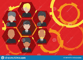 Company Organizational Chart Ceo Picture Frames Chief Executive And Staff Company Working