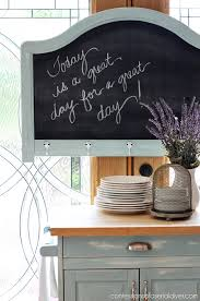 Turn an old headboard into a chalkboard. Confessions of a Serial Do-it-