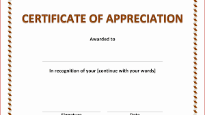 Certificate Of Appreciation Templates Free Download Free Sample Certificate Appreciation Template Fresh Certificate Of