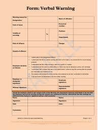 Verbal Warning Sample 26 Printable Sample Verbal Warning Forms And Templates Fillable