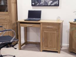 Small office desks Space Saving Ebay Eton Solid Oak Furniture Small Office Computer Desk