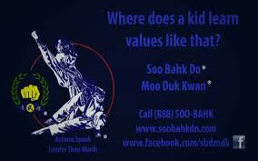 Words With Moo Actions Speak Louder Than Words Moo Duk Kwan