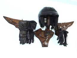 Motorcycle Coat Rack VTwin Motorcycle Helmet Holder for Harley Riders Wall Mount 95