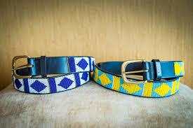 masai beaded leather belts 2