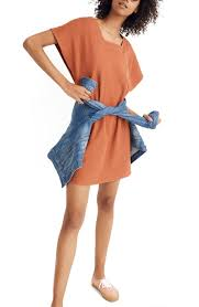 Texture Thread Square Neck Dress