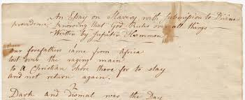 essay on slavery manuscripts and archives blog essay on slavery a manuscript poem in the hillhouse family papers in manuscripts and archives yale university library written in 1786 by jupiter hammon
