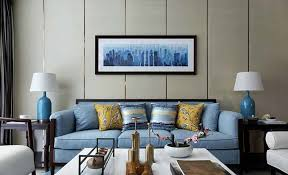 blue sofa living room. Living Room With Blue Sofa Real Map