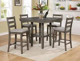 tahoe driftwood grey 5pc counter height dinette set 429 table 40 x 40 x 36 h chair 17 x 17 x 39 h c m 2630 gy