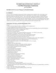 Veterinary Technician Resume .