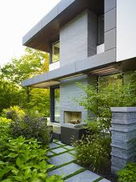 this toronto residence s backyard includes terraces a deep ravine and fireplace area photos courtesy w s tyler