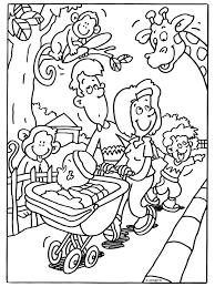 Kleurplaat Familie In De Dierentuin Kleurplatennl
