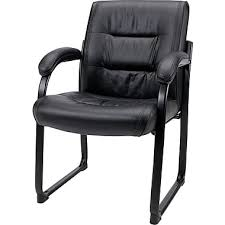 guest chair. Staples® Bonded-Leather Guest Chair, Black (8528S) Chair R