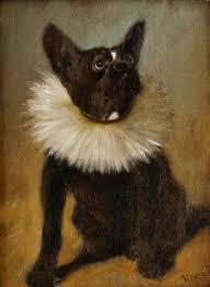 french bulldog arthur heyer oil painting