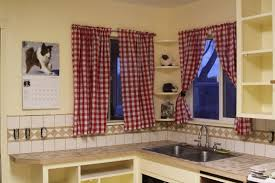 curtain for kitchen window lovely curtains ideas red and val