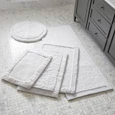 bathroom rugs and bath mats crate and barrel navy and gray bath rug