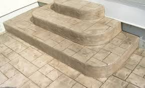 stamped concrete steps ashlar stampd patio with stairs58 patio