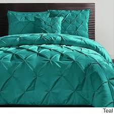 vcny carmen 3 piece pintuck duvet cover set free today com 15125656 teal king size